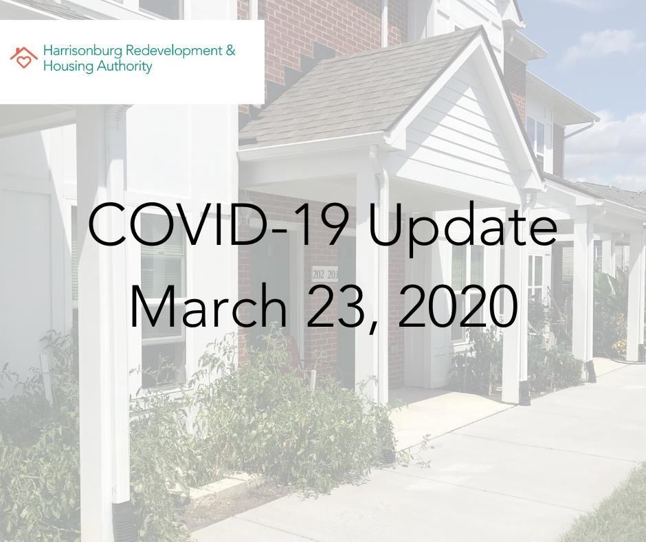 COVID-19 March 23, 2020 Update